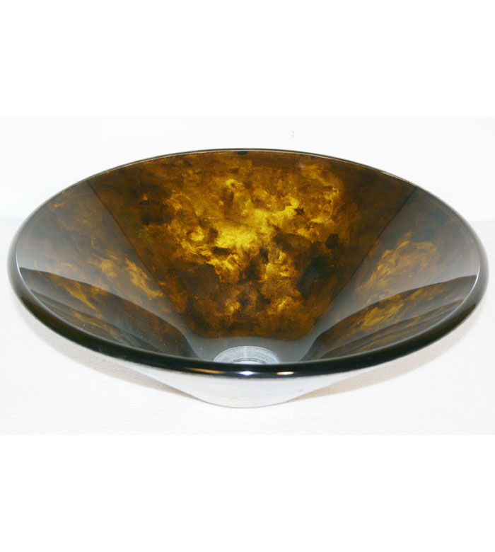 Gold blemish glass vessel sink bowl (SRG9014)