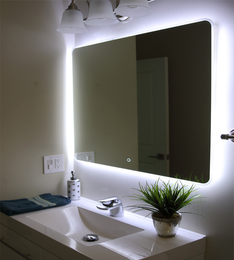 "Windbay 36"" Backlit Led Light Bathroom Vanity Sink Mirror. Illuminated Mirror."