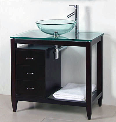 Bathroom Vanities For Vessel Sinks vessel sink vanity. modern minimalist black and white bathroom