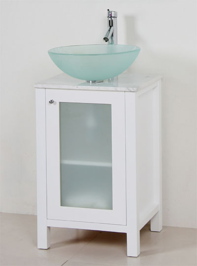 Bathroom Vessel Sink Cabinets : Marble top cabinet vanity sink vessel sink and faucet set (WC003)
