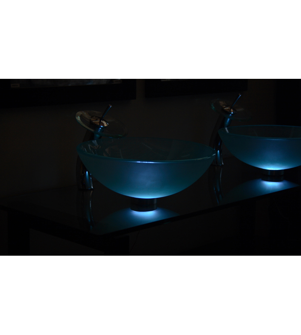 Vessel sink mounting ring LED light (ML119)