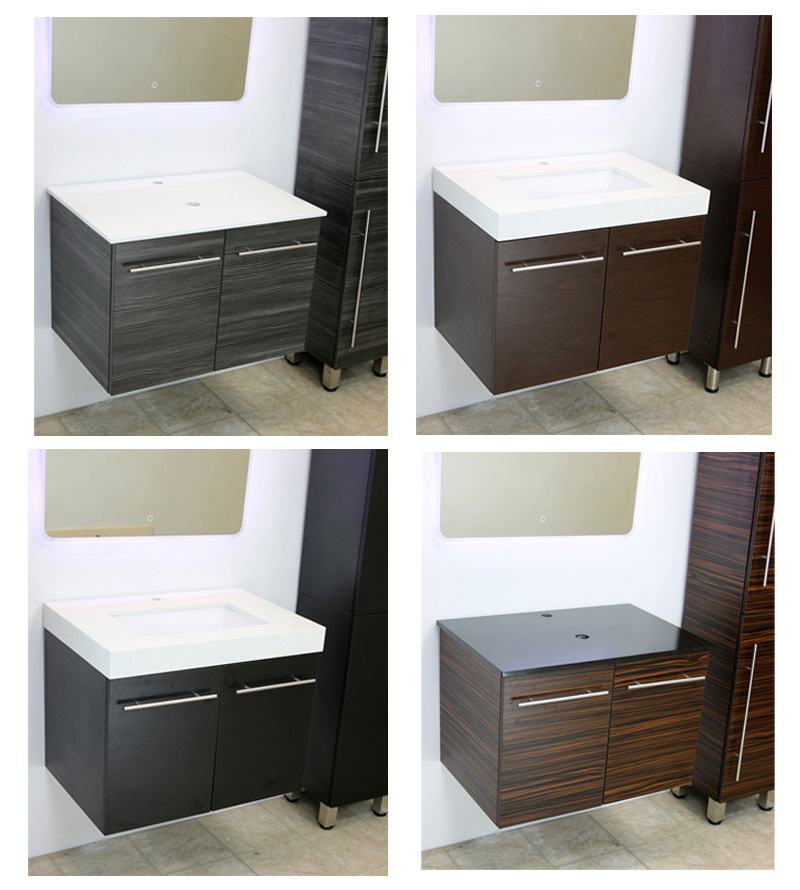 "WindBay 36"" floating wall mount vanity sink set"