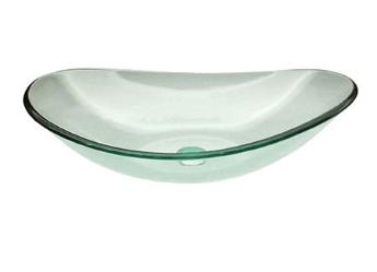 Superior Clear Doubled Tempered Glass Vessel Sink Bowl (C C1002)