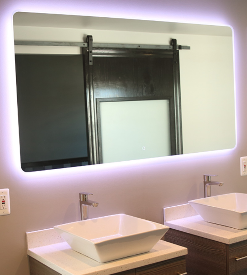 windbay 60 backlit led light bathroom vanity sink mirror illuminated mirror - Bathroom Sink And Mirror
