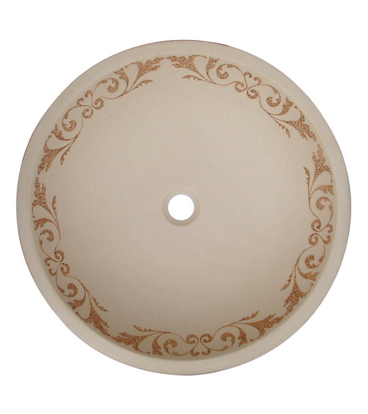 Sand tan resin vessel sink (CH0425)