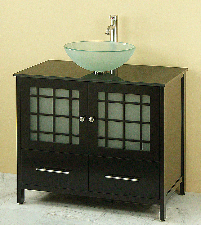 36\'\' Marble top bathroom vanities vanity sink set (WC088E)