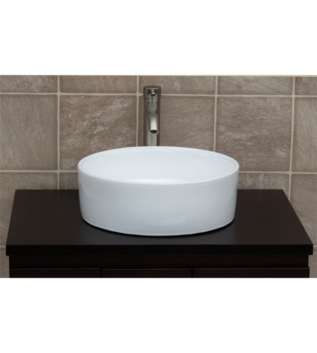 Round ceramic porcelain sink (CC7044)