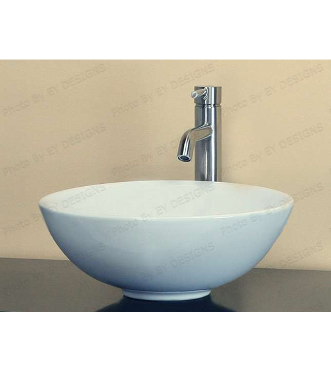 Round bowl ceramic porcelain sink (CW034)