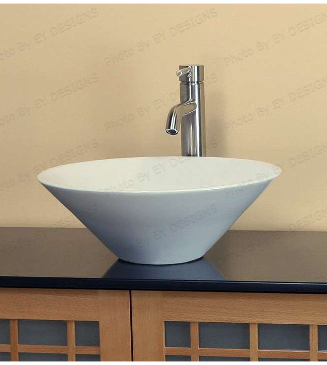 Round bowl ceramic porcelain sink (CW038)