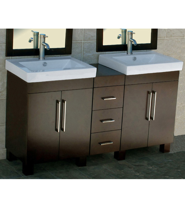 60'' Double cabinet bathroom vanities vanity sink (EVP295)