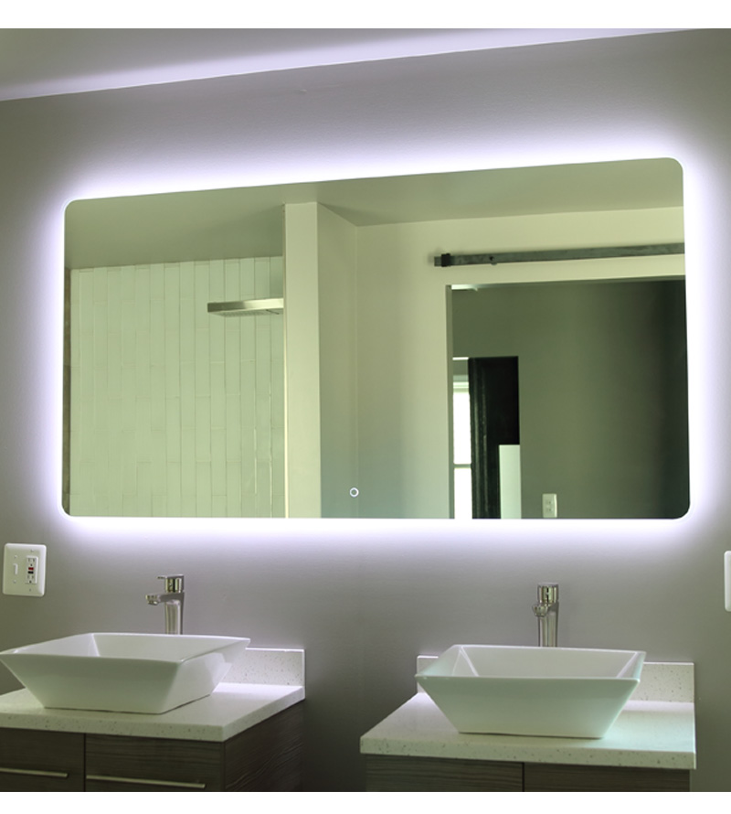 "Windbay 48"" Backlit Led Light Bathroom Vanity Sink Mirror. Illuminated Mirror."