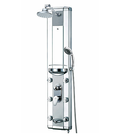 Aluminum shell brass shower panel SPA massage system (Z010)