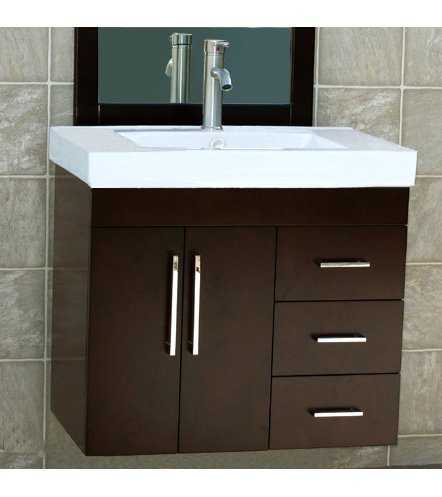 30'' Wall mount cabinet bathroom vanities vanity sink (EVP195)