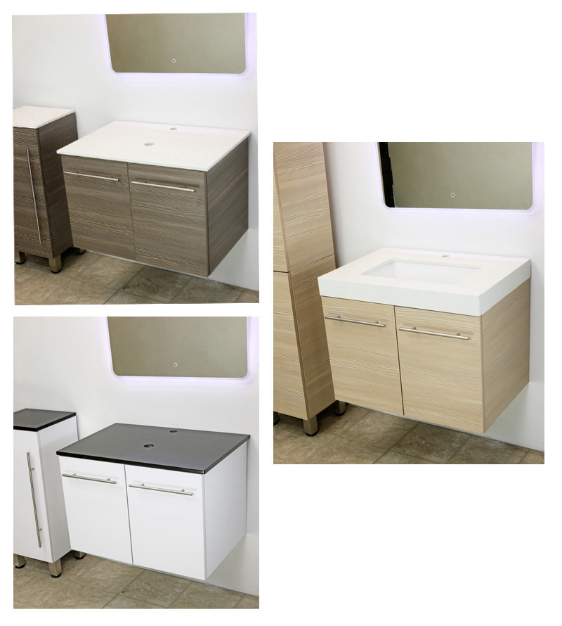 "WindBay 36"" wall mount floating vanity sink"